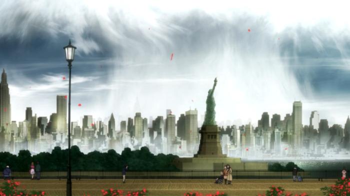 """""""Gibu mi yoru tiyado, yoru poru, yoru hadaradu masesu yaningu to burezu furi."""" -Battlefront's Statue of Liberty plaque, probably."""